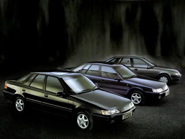 The Daewoo Espero range in 1995