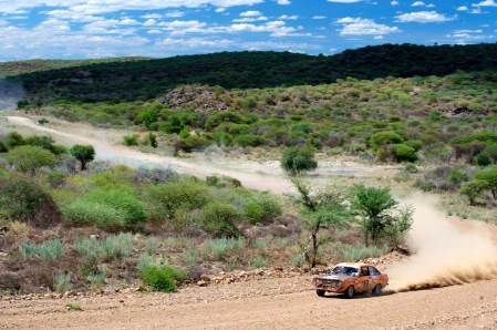This is what it's all about. Mike and Ben Dawson, Mk 2 Escort, Namibia