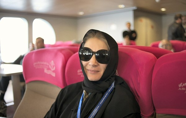 The lady drivers adopted a fashionable look for Saudi Arabia... and not actually drive!