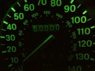 A mileage landmark, and no mistake