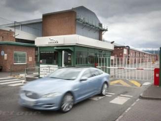 Jaguar XJ leaves Castle Bromwich...