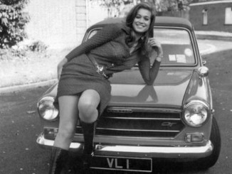 The delectable Valerie Leon and her Austin 1300GT
