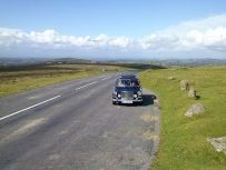 The A30 was choked, driving across Dartmoor a nice change