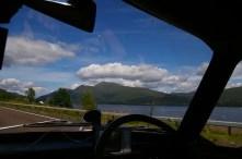 Driving along Loch Lomont
