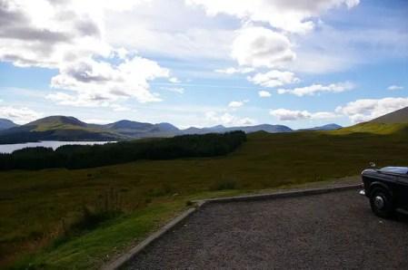 Entering the Scottish Highlands