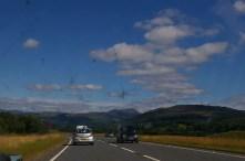 On the A9 towards Edinburgh