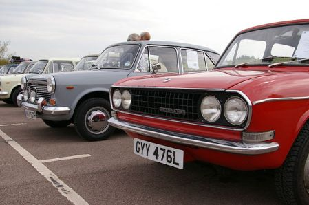 Wrong world: UK plate and LHD, German plate and RHD