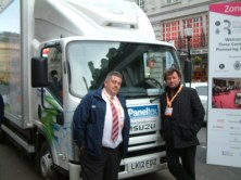 The two Mikes at Regent Street - Mr Rutherford was seemingly impressed with the idea of a fully electric truck.