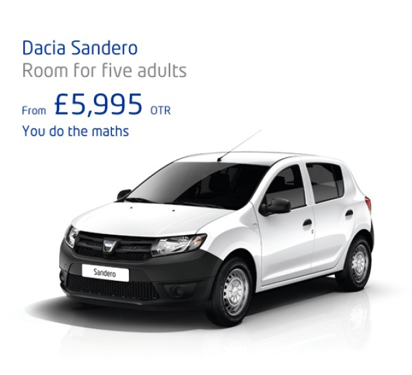 Dacia Sandero - the UK's cheapest car. Yours for £70 a month...
