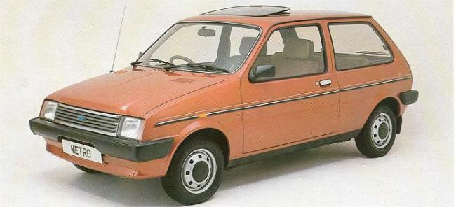 Project Gimbal: The Austin Metro, due in 1980, would have given GM an earlier entry into the supermini market than it would have with the Corsa/Nova in 1982.