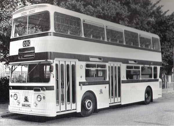 Sheffield City Transport 214 as new with Park Royal / Roe body in 1968. Sheffield used Atlantean & Fleetline finding them both utterly dependable operating in an area of arduous terrain.