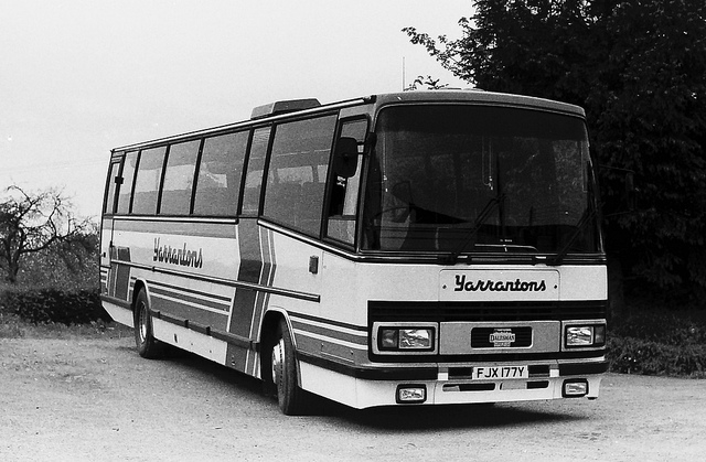 The Ward Dalesman with Plaxton 3200 Paramount body seen here when new in 1983.