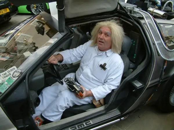 Brian O`Neill with his superb Delorean Timecar