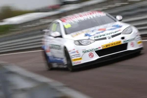 MG KX Momentum Racing's Sam Tordoff during Free Practice 1 at Thruxton