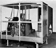 Early mock up of cab and platform area