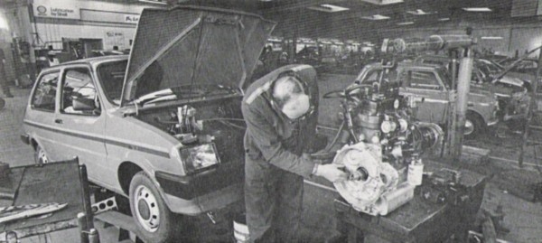 Holland Brothers also had a large Service and Parts department. It's engine out time for this Metro…