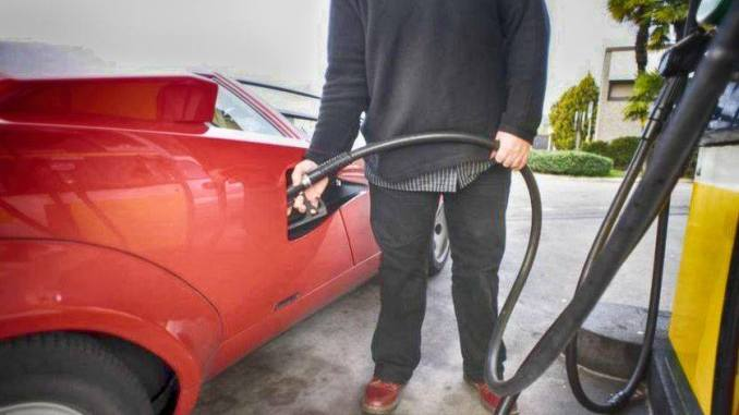 Filling up a petrol car