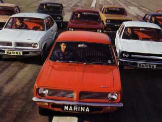 Morris Marina at launch in 1971