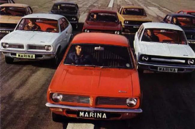 Morris Marina at launch in 1971
