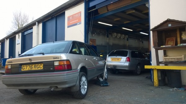 My tyre centre looked like an MG Rover club outing.