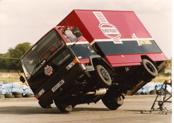 Russ practicing a similar manoeuvre to the Montego - only this time using a Cummins-powered Leyland truck