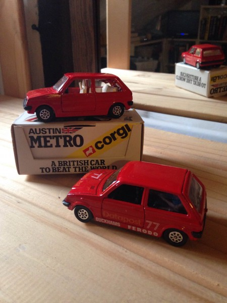 I was given two of the dealer-boxed Corgi Metros for Christmas in 1980 - one to play with and another to keep safe. Although I was only three at the time, It has survived really well. The Datapost one came a bit later, as I recall, and I'm sure I also had a cream 'Turbo' version - or am I imagining it?