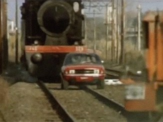 Yes, in this Innocenti Regent video, the poor Italian Allegro is being hammered up a railway…