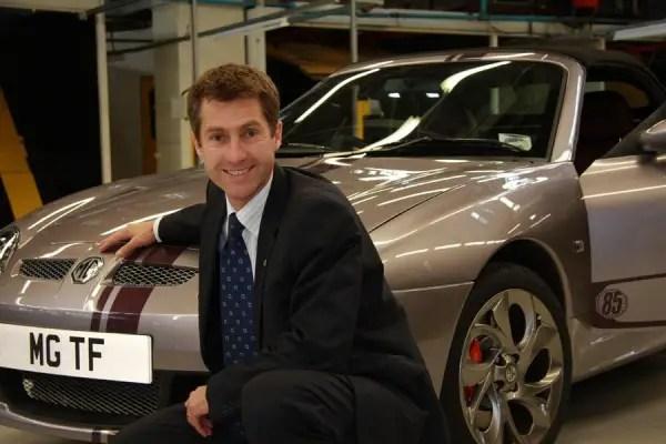 MG Motor UK's former Sales and Marketing Director, Guy Jones