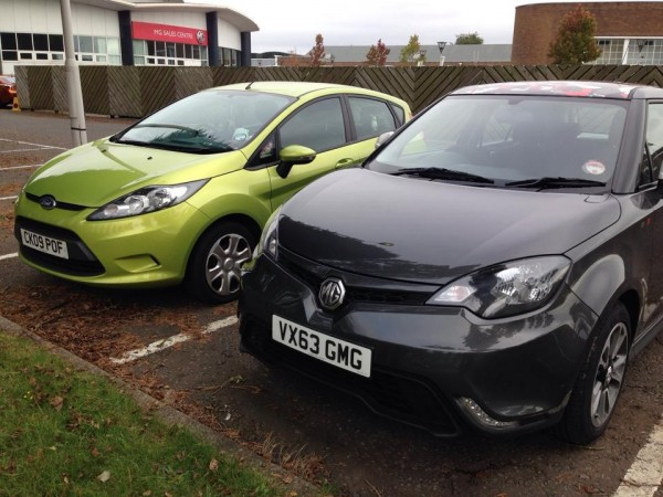 Adrian had a brief relationship with a lurid Fiesta before going to test-drive an MG3, but it wasn't the 3 that he drove away with...