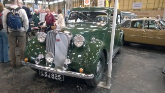 No BMW input on this Rover 75 seen on the Rover and Sports Register stand