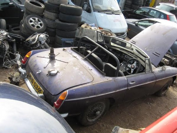 dishevelled, but complete, ex-London to Sydney MGB is set to return to the road
