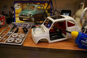 24/1 model of Fiat 500 Tamiya kit.