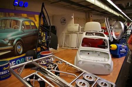 32/1 model of Tamiya Fiat 500 kit