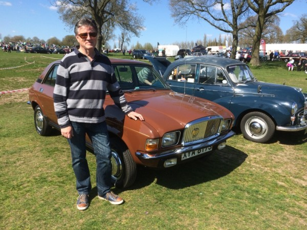 One of many former Longbridge employees in attendance - this is Denis Chick, former Communications Director (now in a similar high profile role at Vauxhall), with his recently acquired Vanden Plas 1500