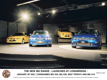 MG Rover previewed the new Z range in January 2001, ahead of its launch at the Geneva Motor Show the following month