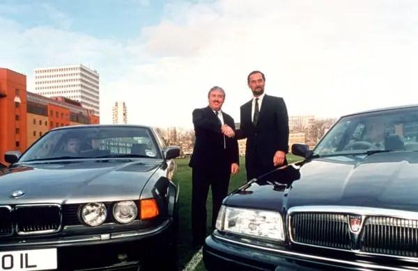 Former BMW boss Bernd Pischetsreider, pictured in 1994 when BMW acquired Rover
