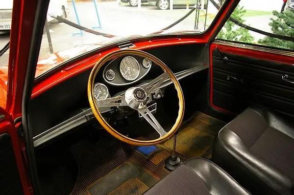Original wooden steering wheel