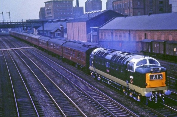 D9020 'Nimbus' on a down Scotsman passing Selby