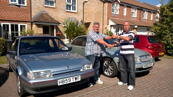 The obligatory hand over picture of the sealed deal involving the Rover 75 and the Montego 1.6LX