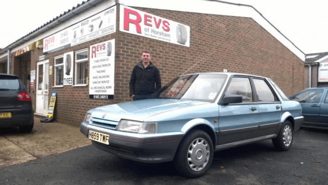 Evan looks chuffed with the Montego... despite being just one year old when the car was built. Bloody kids eh? Tsch!