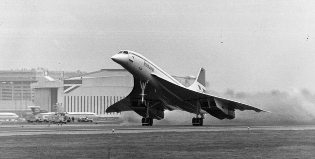 """As the first officer calls out """"rotate"""" G-BOAA makes her presence known at Heathrow as she makes the first British commercial supersonic flight bound for Bahrain."""