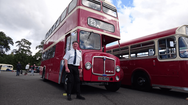 Vauxhalls communications director Denis Chick with his 1966 AEC Regent.