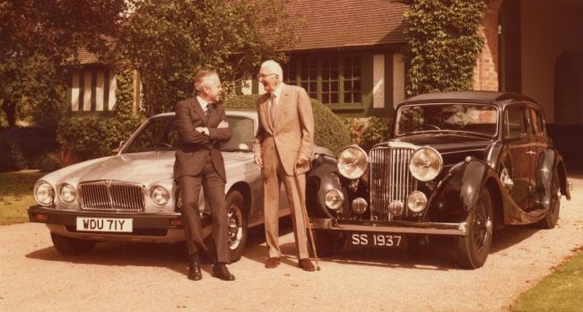 Sir John Egan saving Jaguar story pics Sir William Lyons John Egan - Philip Porter archive.