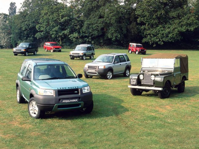 Land Rover range in the late 1990s