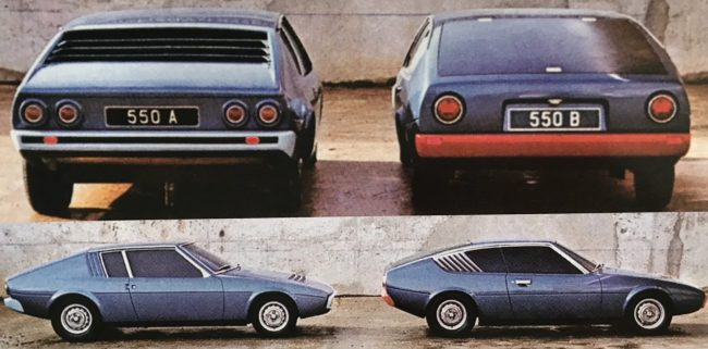This was developed into a typically wedge-shaped theme, with two contrasting rear window layouts. M550B was chosen as the winning design