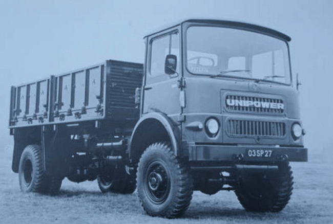 Unipower Invader 4X4 chassis of 1971 in military specification.