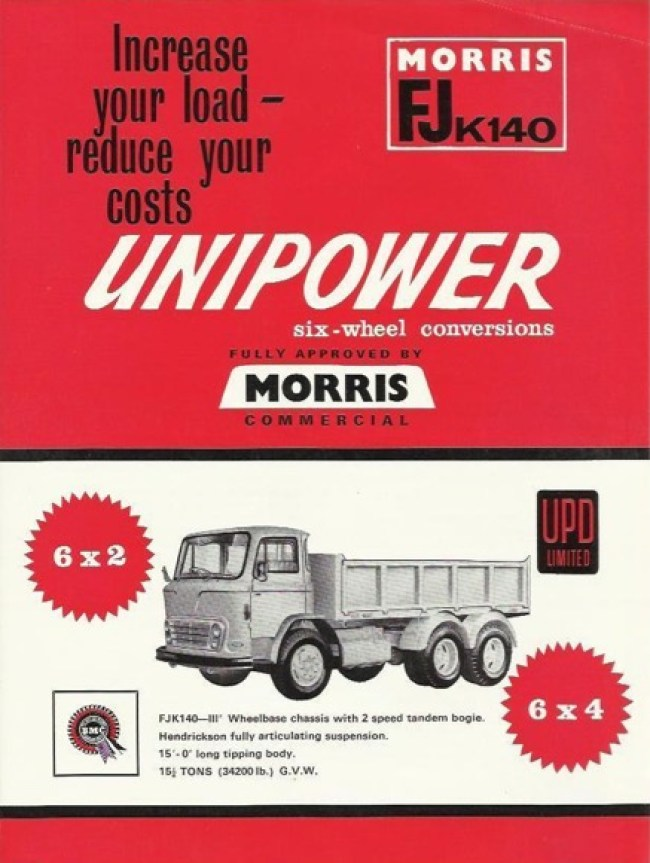 1964 Morris FJ Unipower Conversion Advertisement.