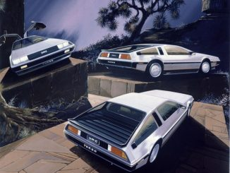 DeLorean DMC-12 Turbo rendering by Ital Design in 1981