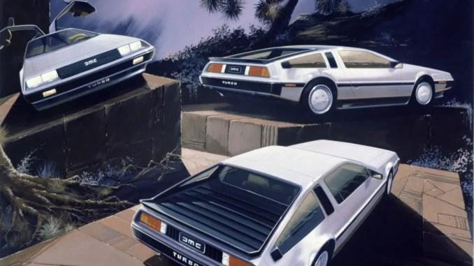 DeLorean DMC-12 Turbo rendering by Ital Design in 1981