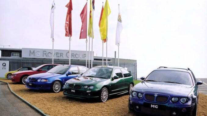 MG Zed models outside Longbridge Q Gate